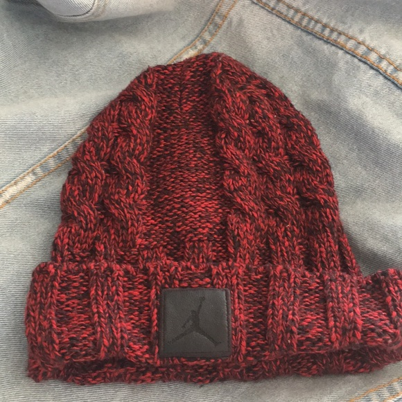 8067d2141 Red And Black Jordan Beanie